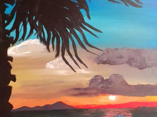 Loutraki zachód słońca