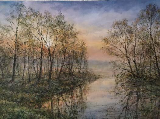 5/2021, Zamglone jezioro o świcie