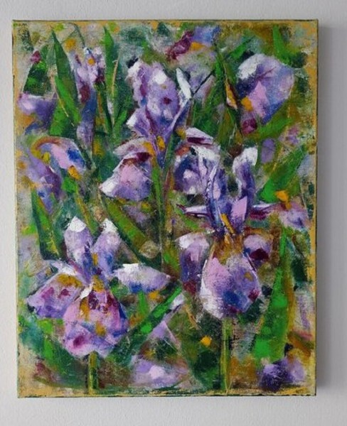 Obraz olej 40x50 cm Irysy II