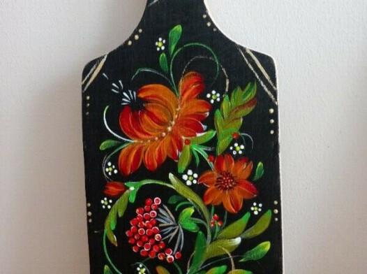 Deseczka malowana ręcznie 14 x 32 cm