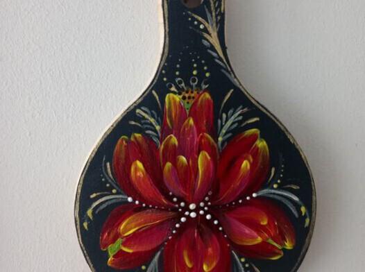 Deska drewniana malowana ręcznie