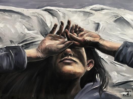 Obraz olejny portret kobiety 40x60cm