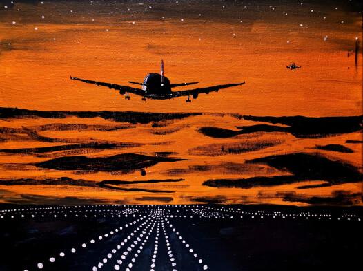 Samolot w Zachodzie