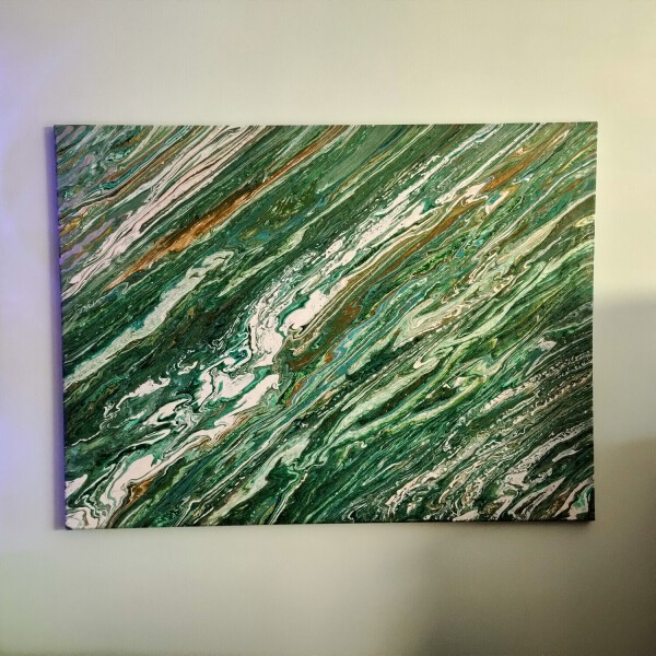 Abstrakcja akryl na płótnie
