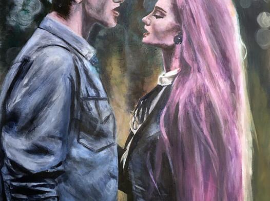 Obraz malarstwo sztaluga rysunek szkic miłość romans wnętrze sztuka
