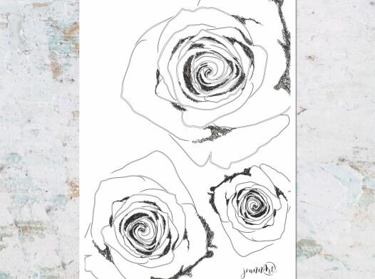 Różane trio