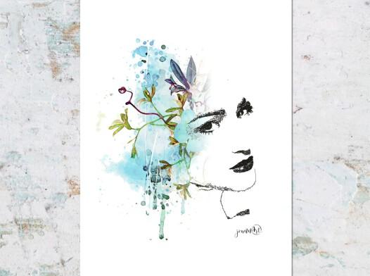 Kobieta w błękicie